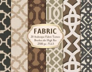 20 Arabesque Fabric Texture Brushes.abr Vol.5 Photoshop brush
