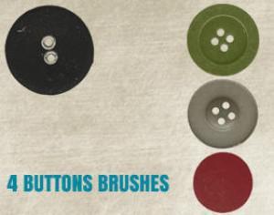 4 Buttons Brushes Photoshop brush