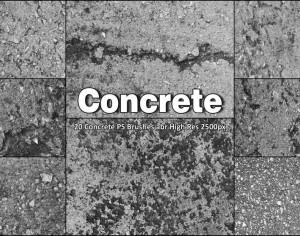 20 Concrete PS Brushes abr vol 8 Photoshop brush