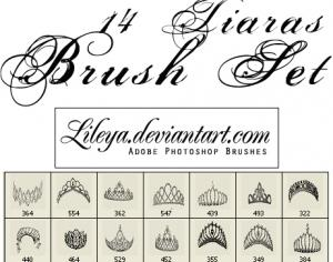 Tiaras Brush Set Photoshop brush