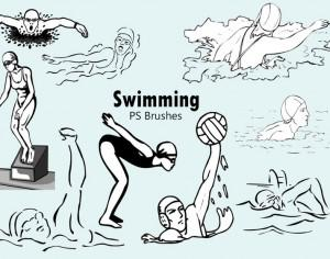 20 Swimming PS Brushes abr Photoshop brush