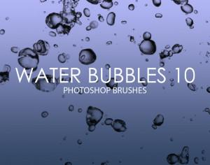 Free Water Bubbles Photoshop Brushes 10 Photoshop brush