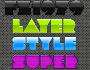 Super pack layer style 13 Photoshop brush