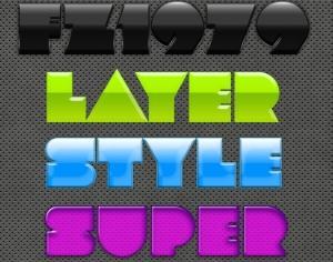 Super pack layer style 13 Photoshop brush