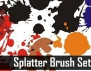 Splatters Brush Set Photoshop brush