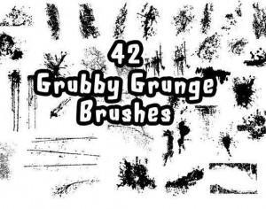 42 Grubby Grunge Brushes Photoshop brush