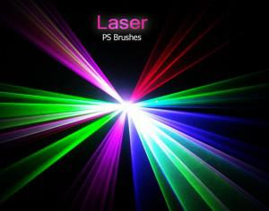 20 Laser PS Brushes abr. vol.3 Photoshop brush