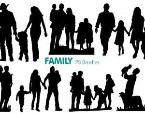 20 Family Silhouette PS Brushes abr.vol.1 Photoshop brush