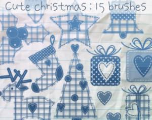Cute Christmas Brushes Photoshop brush