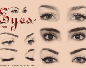20 Female Eyes Ps Brushes abr Vol 4 Photoshop brush