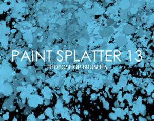Free Paint Splatter Photoshop Brushes 13 Photoshop brush