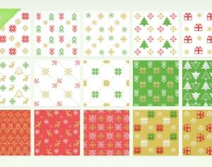 Christmas Pixel Patterns Photoshop brush