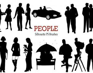 20 People Silhouette PS Brushes vol.1 Photoshop brush