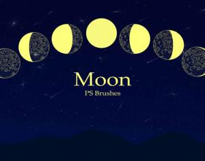 20 Moon Ps Brushes abr vol.3 Photoshop brush
