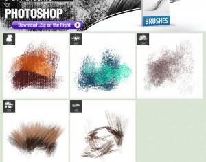 5 Dry Brushes Photoshop brush