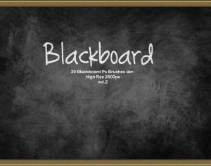 20 Blackboard Ps Brushes abr. vol.2 Photoshop brush
