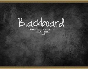 20 Blackboard Ps Brushes abr. vol.2 Photoshop brush