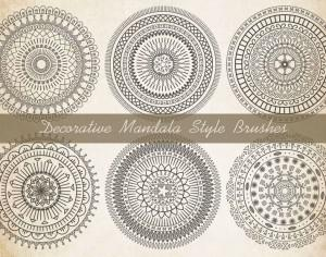 Decorative Mandala Brushes Photoshop brush