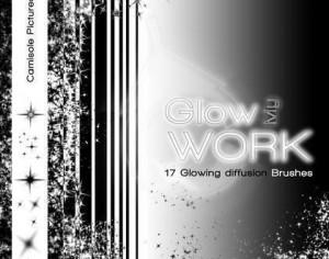 Glow my Work - Glow Brushes pack by Camisole Pictures Photoshop brush