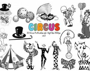 20 Circus Ps Brushes vol.2 Photoshop brush