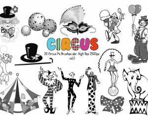 20 Circus Ps Brushes vol.2 Photoshop brush