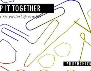 Keep it together Paper Clip Brushes Photoshop brush