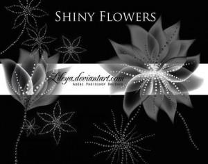 Shiny Flowers 1 Photoshop brush