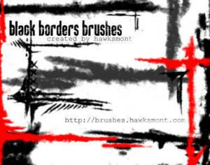 Black Borders brushes Photoshop brush
