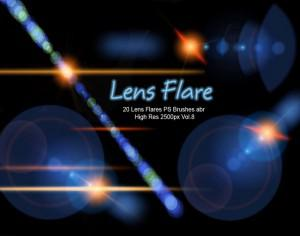 20 Lens Flares PS Brushes abr  vol.8 Photoshop brush