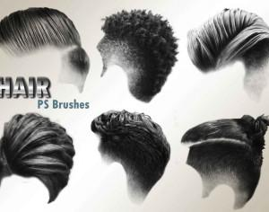 20 Hair Male PS Brushes abr. vol.3 Photoshop brush
