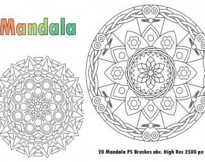 20 Mandala PS Brushes abr.  Res  vol.1 Photoshop brush