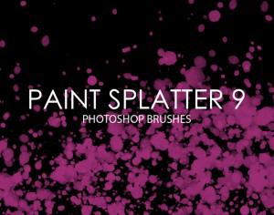Free Paint Splatter Photoshop Brushes 9 Photoshop brush