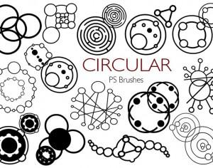 20 Circular PS Brushes abr. Vol.2 Photoshop brush