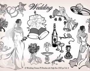 20 Wedding PS Brushes abr vol.4 Photoshop brush