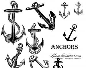 Anchors Photoshop brush