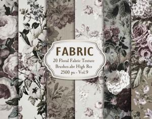20 Floral Fabric Brushes.abr Vol.9 Photoshop brush