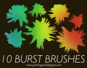 10 Paint Burst Brushes Photoshop brush