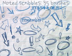 Noted Scribbles Brushes Photoshop brush