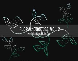 Floral Doodles Brushes (Vol. 2) Photoshop brush