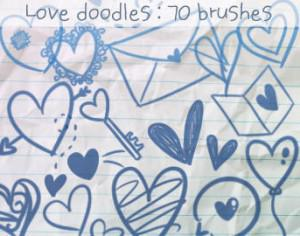 Love Doodles Brushes 2 Photoshop brush