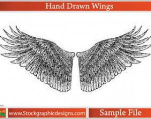 Hand Drawn Wings Photoshop brush