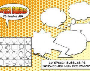 Speech Bubbles PS Brushes abr Photoshop brush