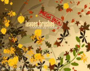 Leaves Brushes - MEGA PACK Photoshop brush