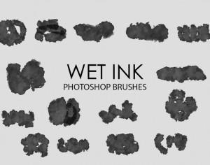 Free Wet Ink Photoshop Brushes 5 Photoshop brush