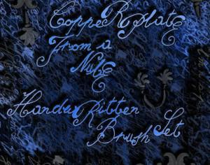 Copperplate from a Nube handwritten brush set Photoshop brush