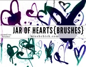 Jar of Hearts Photoshop brush