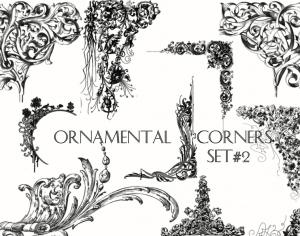 Ornamental Corners set 2 Photoshop brush
