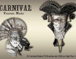 20 Carnival Masks PS Brushes abr.vol.2 Photoshop brush