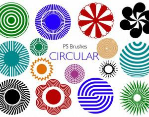 20 Circular PS Brushes abr. Vol.6 Photoshop brush
