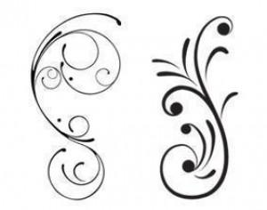 Free Swirly Floral Scrolls Brushes Photoshop brush